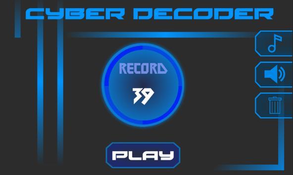 Cyber Decoder - Time killer poster