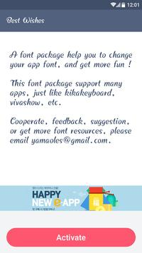 best wishes fonts for free apk screenshot