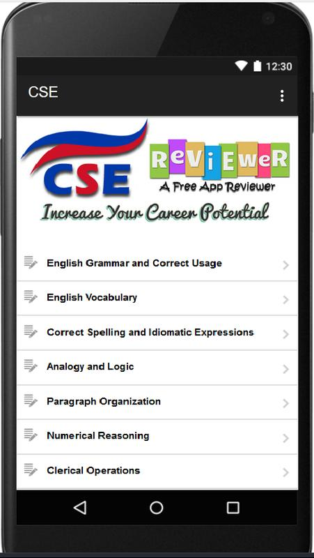 civil service examination reviewer for android Discover the top 100 best civil service apps for android free and paid top android apps for civil  civil service examination  civil service reviewer.