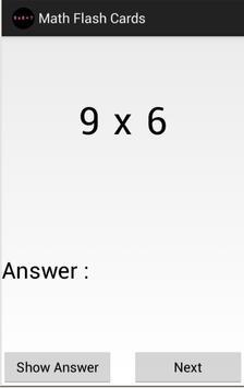 Math Flash Cards screenshot 2