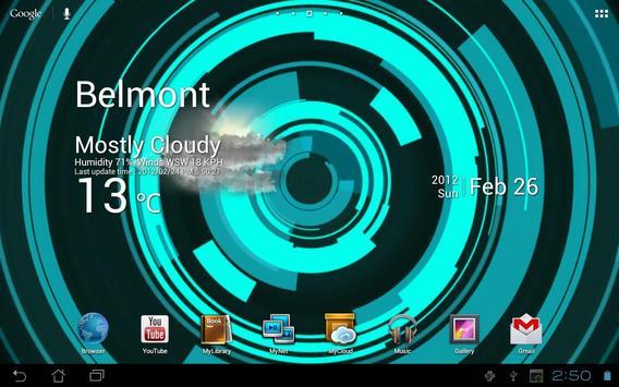 Holo Ring Live Wallpaper apk screenshot
