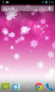 Snowflake Live Wallpaper apk screenshot
