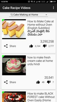 Cake Racipe Videos apk screenshot