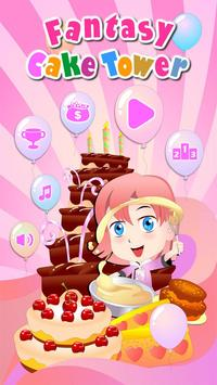 Fantasy Cake Tower Affiche