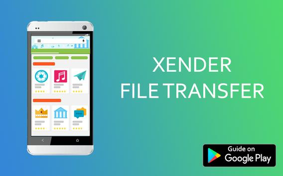 New Xender File Transfer Guide poster