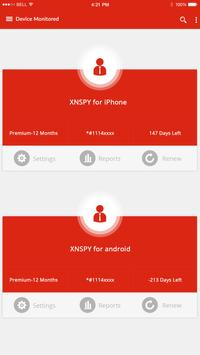 XNSPY Dashboard screenshot 1