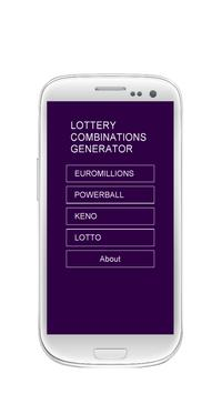 Lottery Combinations Generator poster
