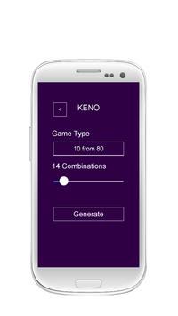 Lottery Combinations Generator screenshot 1