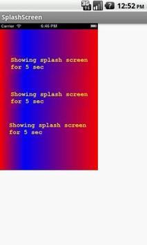 Splash Screen apk screenshot