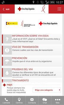 VIH/SIDA Cruz Roja Española poster