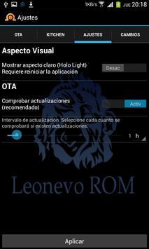 Xorware Leonevo Rom Control screenshot 2