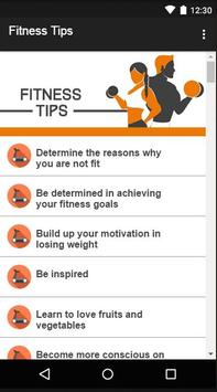Fitness Tips screenshot 1
