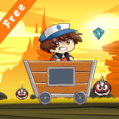 Adventure trolley with gravity icon