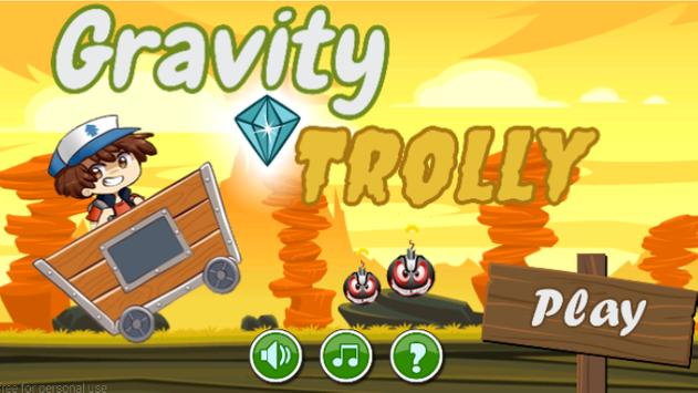 Adventure trolley with gravity poster