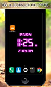 Digital Clock Live Wallpaper apk screenshot