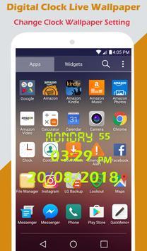 Digital Clock Live Wallpaper screenshot 3