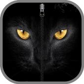 Mystery Cat Zip Screen Lock icon