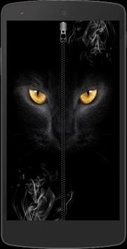 Mystery Cat Zip Screen Lock poster