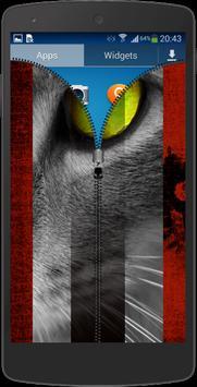 Mystery Cat Zip Screen Lock apk screenshot