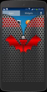 Metal Bat Zip Screen Lock apk screenshot
