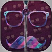 Hipster Zip Screen Locker icon