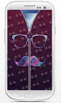 Hipster Zip Screen Locker poster