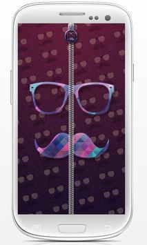 Hipster Zip Screen Locker apk screenshot