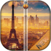 Paris Zipper Screen Locker icon