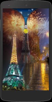 Paris Zipper Screen Locker apk screenshot