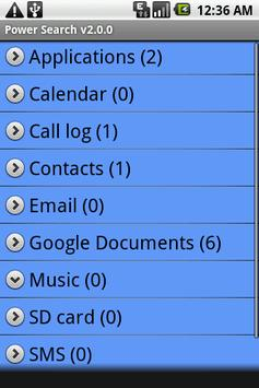 Power Search apk screenshot