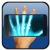X-ray body scanner camera simulator icon