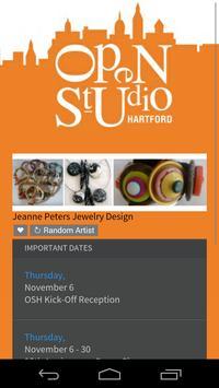 Open Studio Hartford 2014 poster
