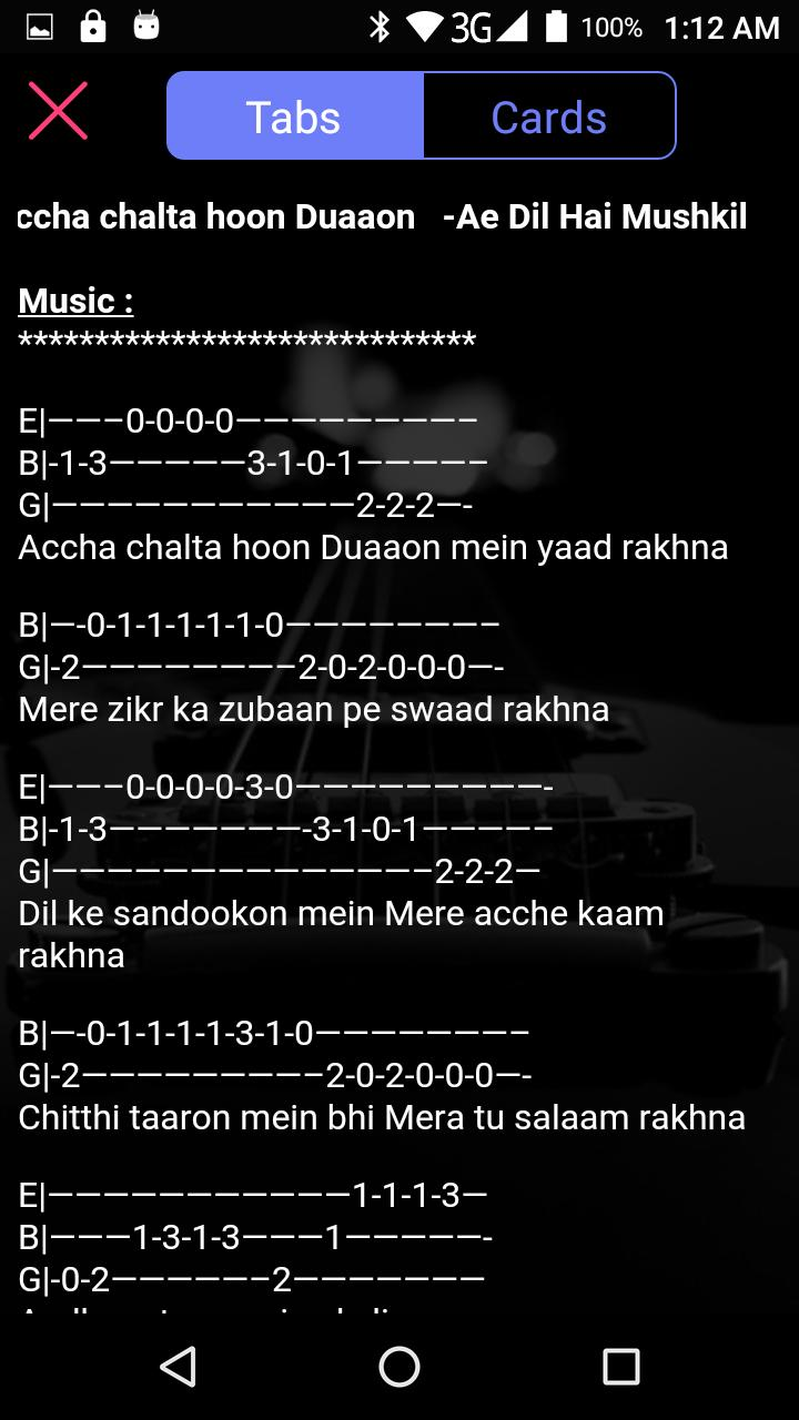 Guitar Tabs Chords For Android Apk Download Tere hi ghar ke easy hindi song chords with lyrics for beginners present… tere nashe mein choor guitar chords by gajendra verma is new hindi song sung by him. guitar tabs chords for android apk