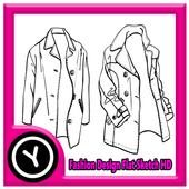 Fashion Design Flat Sketch HD icon