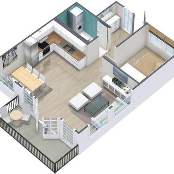 3D Home Floor Plan Designs HD poster