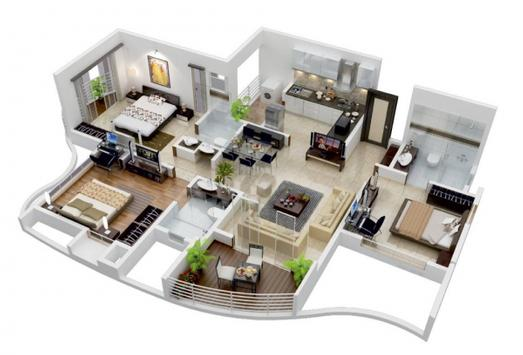 3D Home Floor Plan Designs HD apk screenshot