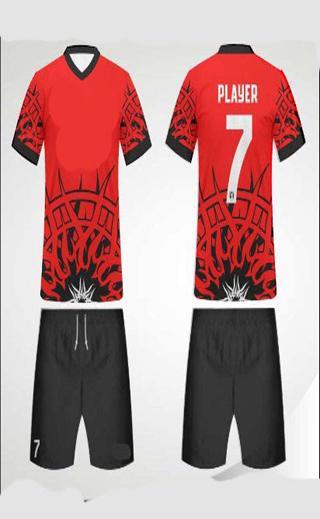 Aplikasi smartphone Futsal jersey design