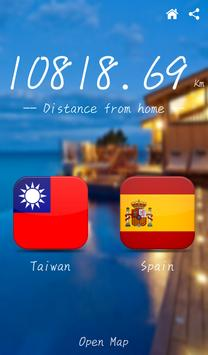 Distance from home screenshot 1