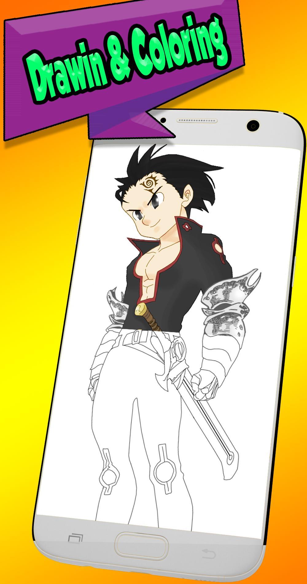 Desenhe Nanatsu No Taizai Os Sete Pecados Mortais Para Android