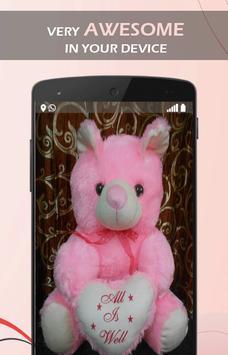 Cute Pink Teddy wallpaper apk screenshot