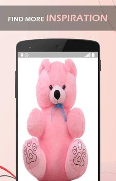 Cute Pink Teddy wallpaper poster
