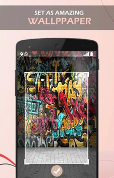Azul Graffiti wallpaper apk screenshot