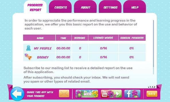 Learn English with Barney apk screenshot