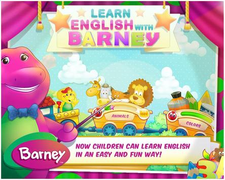 Learn English with Barney poster