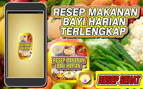 Resep Makanan Bayi Harian poster