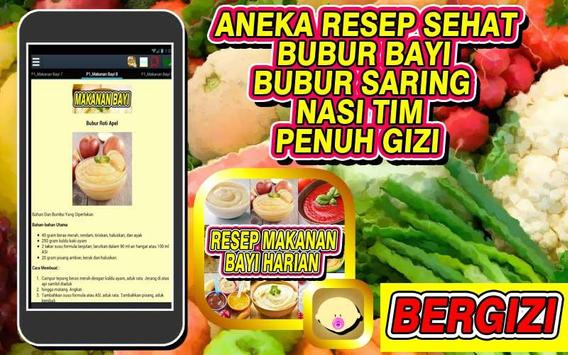 Resep Makanan Bayi Harian screenshot 1