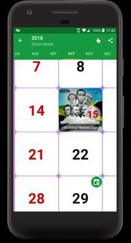 Jamaica Calendar 2018 - 2019 apk screenshot