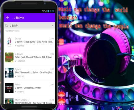 J Balvin, - Mi Gente ft.  Willy William Musicas apk screenshot