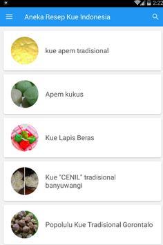 Aneka Resep Kue Indonesia screenshot 1