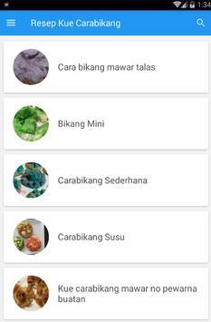 Resep Kue Carabikang screenshot 2